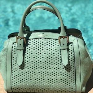 MINT LEATHER TOTE ♠️ KATE SPADE NEW YORK